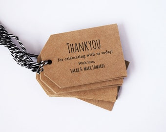 Wedding Favour Tags Rustic - Kraft Card & Twine
