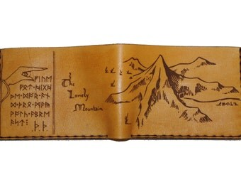 Lonely Mountain Hobbit Leather Wallet