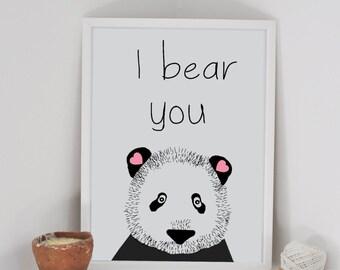 """Wall art """"I bear you"""""""