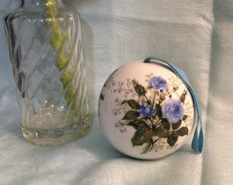 Blue Rose Pomander Ball made in Japan