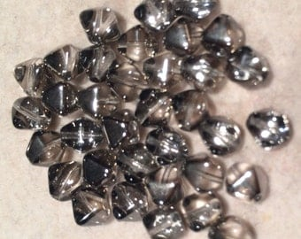 Bicone Beads, 6mm, Crystal Chrome, 00030-27401, 25 Beads, Czech Glass
