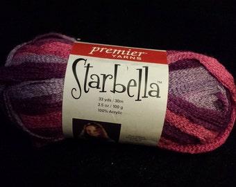 Premier Yarns – Starbella, 1 Skein, 33 Yards Total - Plum Preserves