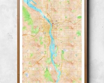 Map of Portland, Portland, Portland art, Portland map, Portland print, Portland decor, Portland gift, Portland art map, Portland poster
