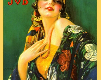 """Fashion Job 16"""" X 20""""  Lady Gypsy Fine Clothes Chic Vintage Poster Repro on Paper or Canvas FREE SHIPPING in USA"""