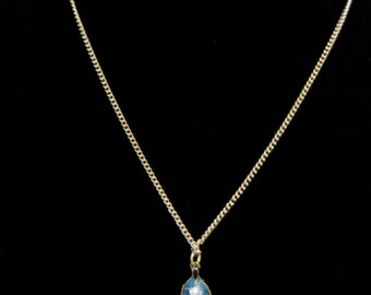 Leaf Necklace with Diamond