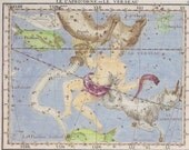 Capricorn and Aquarius Star Chart - print for sky gazers - December and January birthdays