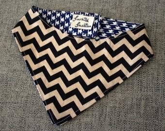 Houndstooth & Chevron Dog bandana neckerchief
