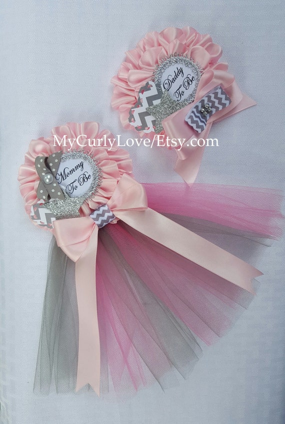 and pink baby shower mommy to be pin gray and pink baby shower mommy