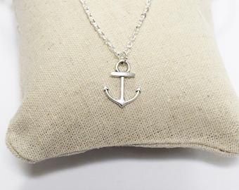 Anchor Necklace - Silver necklace - Silver anchor necklace - Nautical necklace - Chain necklace - Mens necklace - pendant necklace