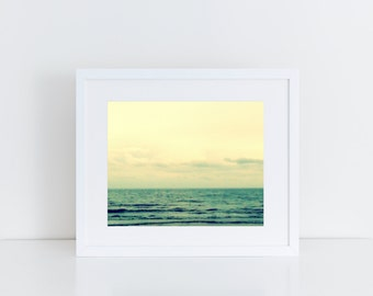 "Vintage Ocean at Dusk, 8"" x 10"", Fine Art Photography, Wall Art Decor"
