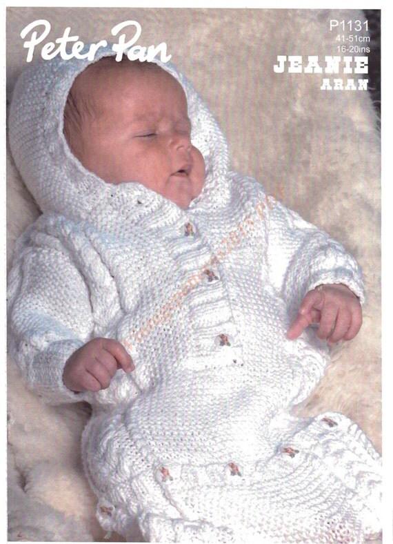 Baby Sleeping Bag Knitting Pattern Aran by VintagePatterns2015