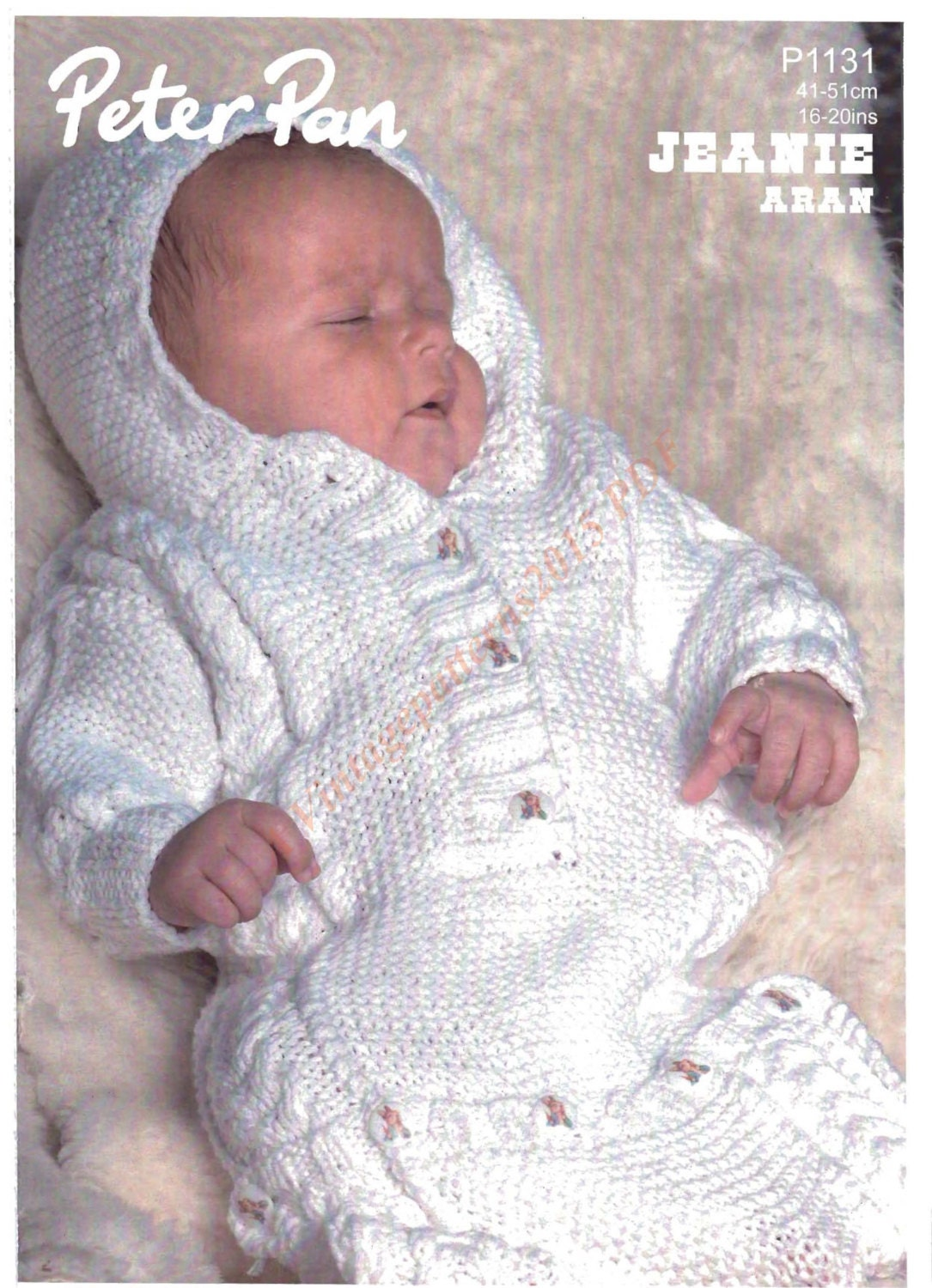 Knitting Pattern Sleeping Bag Baby : Baby Sleeping Bag Knitting Pattern Aran by VintagePatterns2015