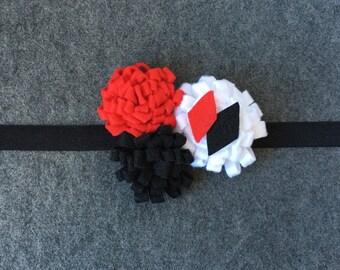 Harley Quinn Felt Flower Headband