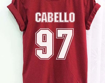 Camila Cabello 97 Shirt Fifth Harmony Clothing Crimson Red Women Tshirt Tee Short Sleeve T-Shirt SMLXLXXL