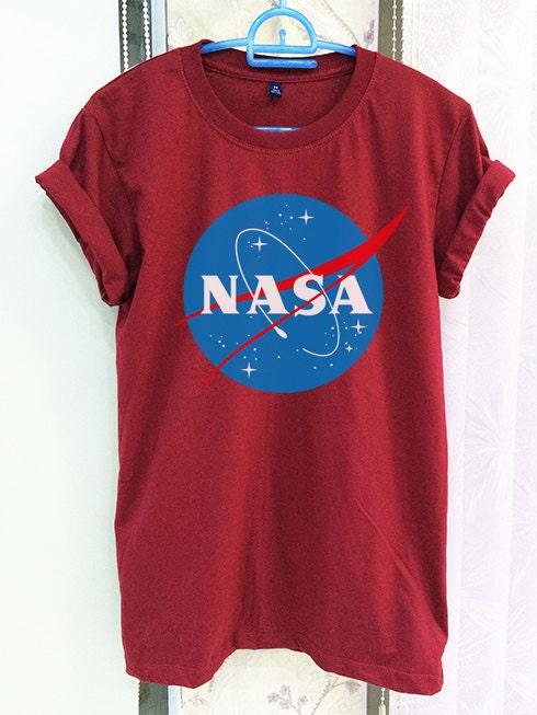 nasa shirt clothing logo crimson red green women tshirt tee. Black Bedroom Furniture Sets. Home Design Ideas