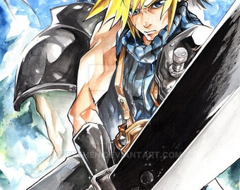 11x17 Cloud and Zack Poster Print