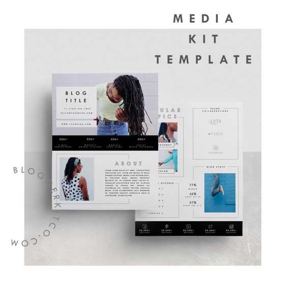 Two page media kit template press kit template for Digital press kit template free