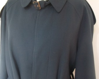 Vintage mens Trench Coat navy rain coat mactintosh by Classic Men size XL chest 44""