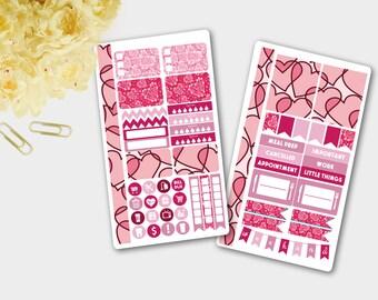Personal Planner Stickers, Personal Planner Set, Personal Planner Kit, Weekly Personal Planner Stickers, Valentine's Day Sticker