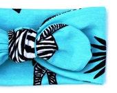 Zebra Messing Organic Cotton Knotted Headband