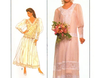 Mcclintock bridal etsy for Loose fitting wedding dresses