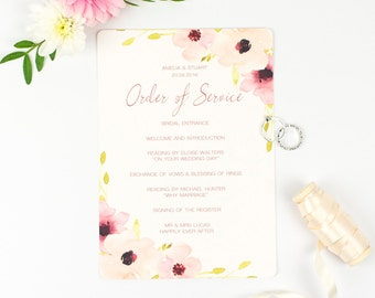 Pretty Order of Service - Floral Chic