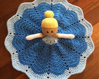 Crochet Disney Inspired Cinderella Doll, Lovey, Security Blanket