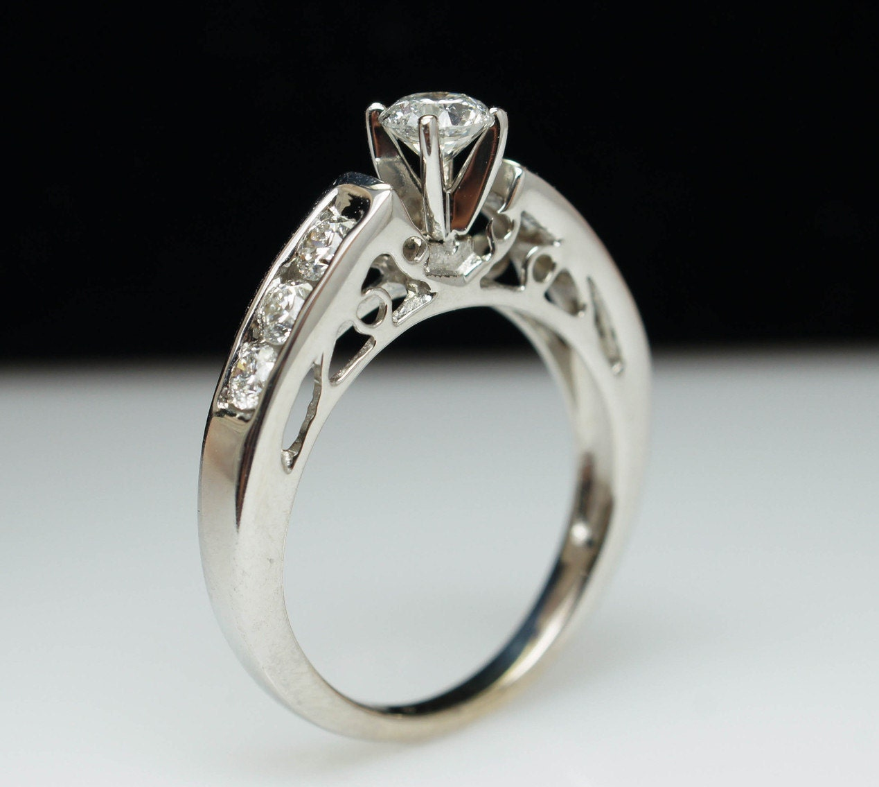 vintage wedding ring set solitaire engagement ring