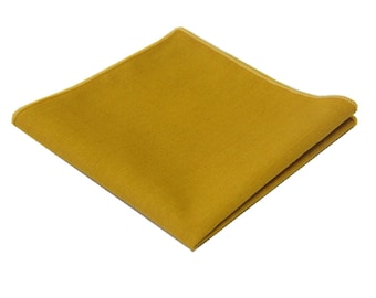 "Mustard Yellow Linen Pocket Square.Mens Pocket Square.Wedding Handkerchief.Gifts.10""x 10"""