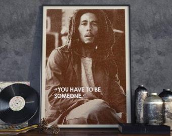Bob Marley Quote Retro Style Poster - Instant Download - Collect the set!