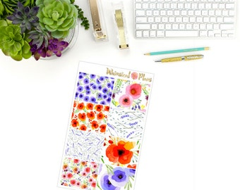 Wildflower Fields Full Boxes -  8 Planner Stickers