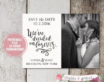 Printable Save the Dates, Printed Rustic Save the Date Cards, Wedding Announcement Cards, Engagement Announcement, Wedding Save the Date
