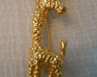 Vintage Brooch ~ Giraffe ~ Brooch ~ Gold Toned ~ Jewelry ~ Gift ~ Pin ~ Womens