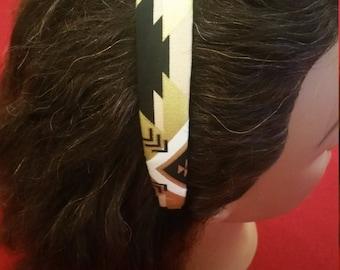 """1"""" hairband/ headband Tribal Aztec fabric"""