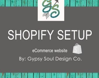 Shopify Setup Package - Online Shop, Web Design, eCommerce Web Site, Graphic Design, Custom Web Design, Shopify, Online Shop, Boutique