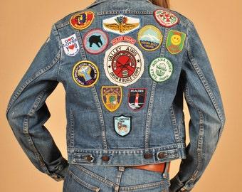 Vintage 1970's Patched Up Wrangler Denim Jacket