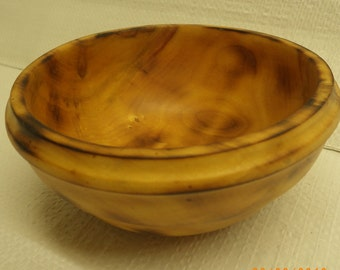 Hand turned burnt Maple wood bowl w/food safe finish