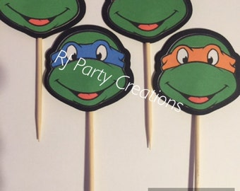 12 TMNT Cupcake Toppers