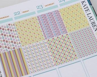 Full Box Easter Planner Stickers for Erin Condren Planner, Easter Stickers, Easter Full Boxes
