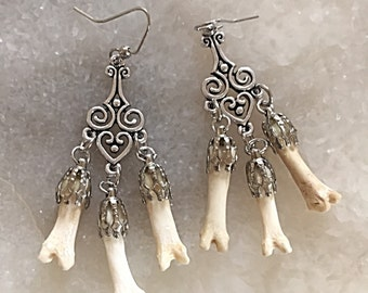 Coyote Toe Chandelier Earrings