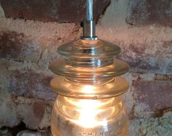 Vintage glass insulator pendant lights