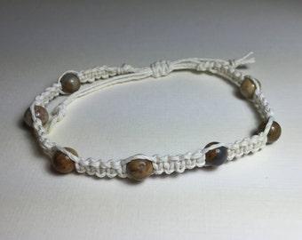 Macrame Bracelet, Beaded Woven bracelet, Adjustable