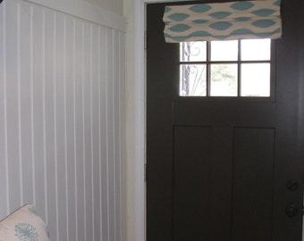 Custom Cordless Door Roman Shade