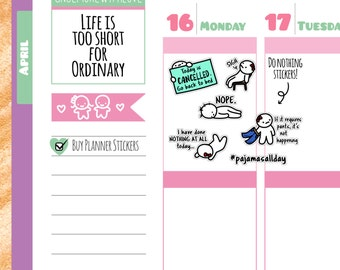 Munchkins - Anti-Adulting I Don't Want to Do Anything Today Planner Stickers (M127)