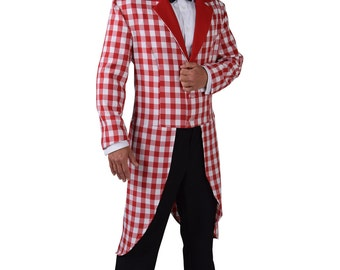 Red / White Checked Tailcoat - Gents