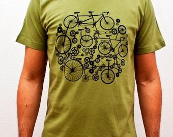 T-shirt Homme Vélo Design Vert Bleu