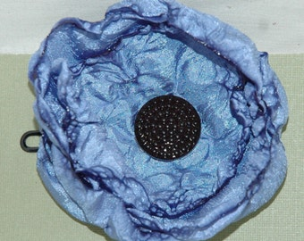 Handmade Periwinkle Floral Bobby Pin Hair Accessory