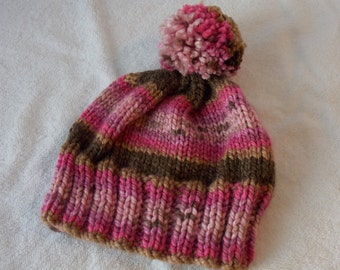 Child's Knit Pompon Hat