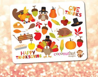 Thankgiving / Fall / Harvest / Autumn Theme Mini Planner Sticker Sheet