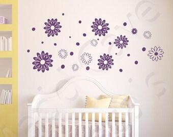 Flowers- Vinyl Wall Decals Sticker Kids Playroom Girls